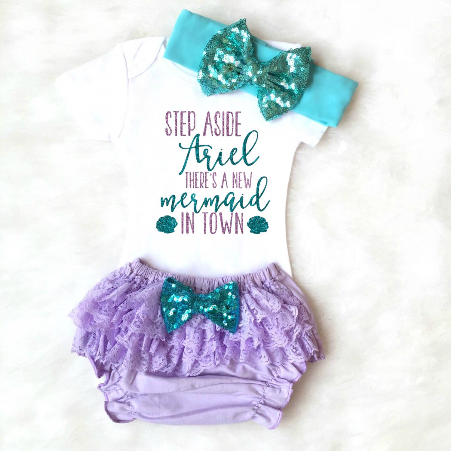 Mermaid Baby Girl Clothes Mermaid Baby Outfit Little Mermaid Outfit