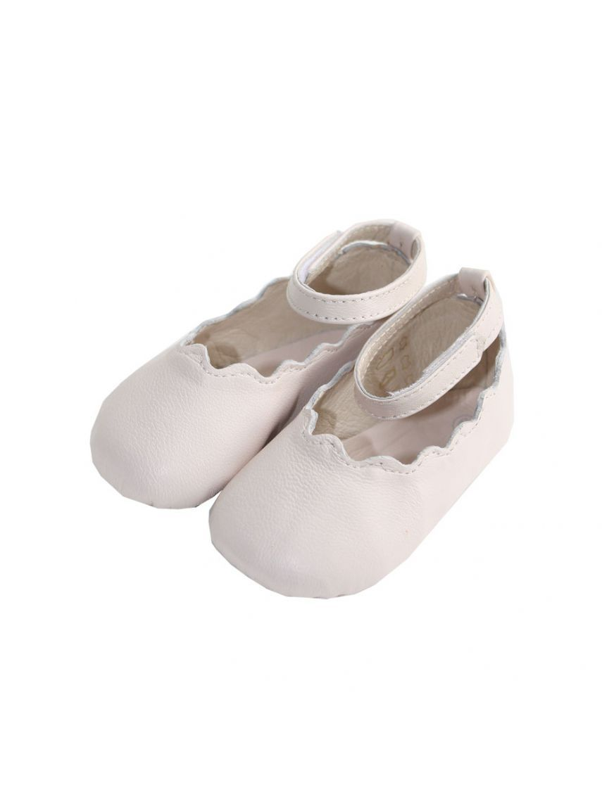 23f646922c4021 Chloe Kids baby girls pale pink leather ballerina shoes