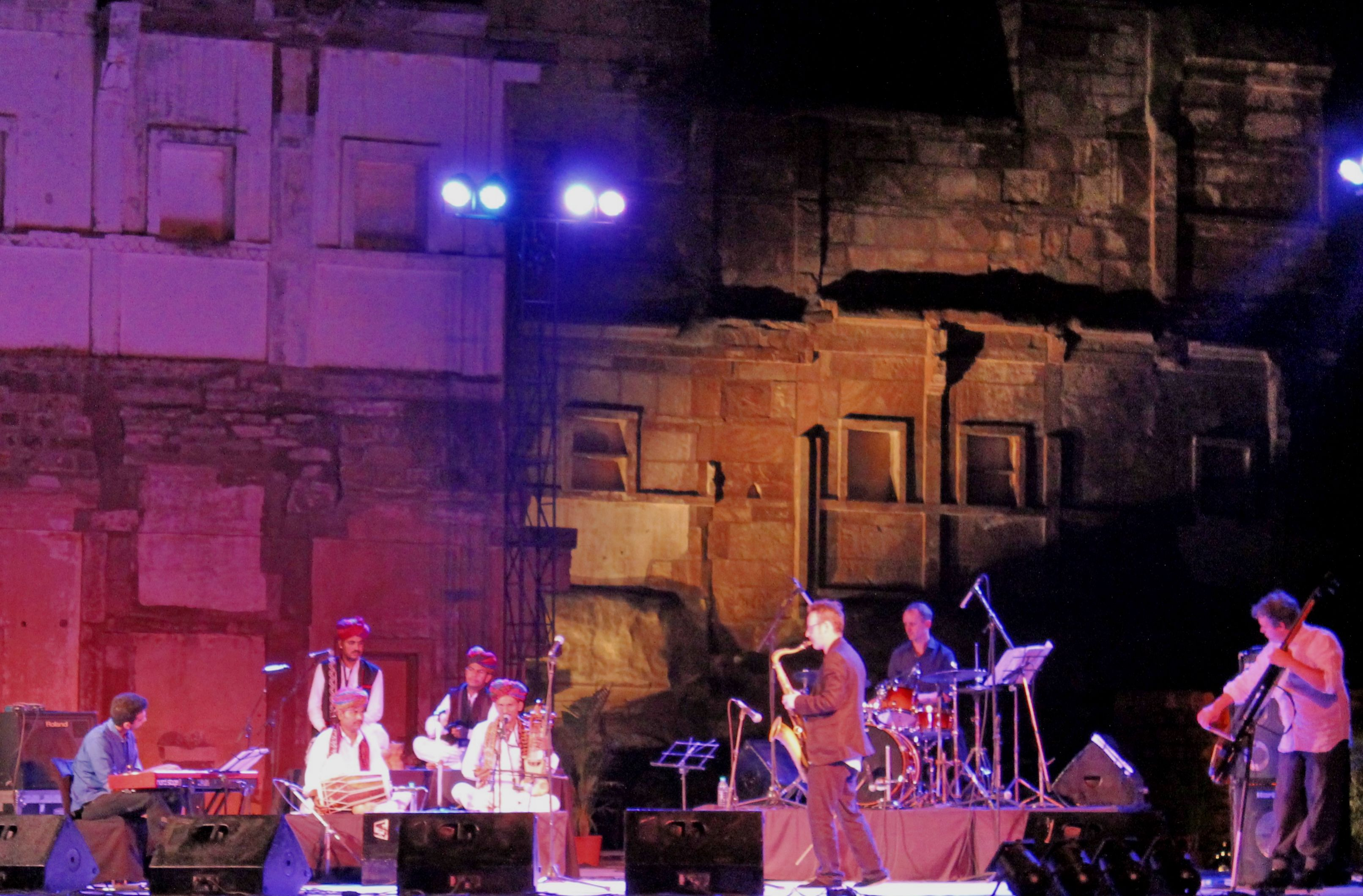 It's a little surreal to hear a haunting Celtic song in the zenana courtyard of a 17th century fort in Rajasthan. It's Sharad Poornima, the brightest full moon of the year, and everything looks lik...