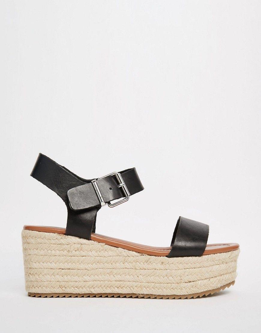 9a455419da1 Steve Madden Surfaa Black Espadrille Wedge Sandals | Shoes | Black ...