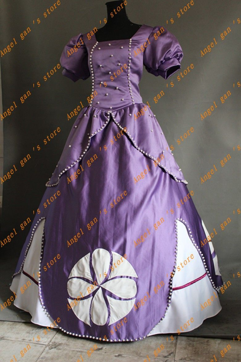 Hot Sale Custom Made High Quality Princess Sophia Dress Cosplay