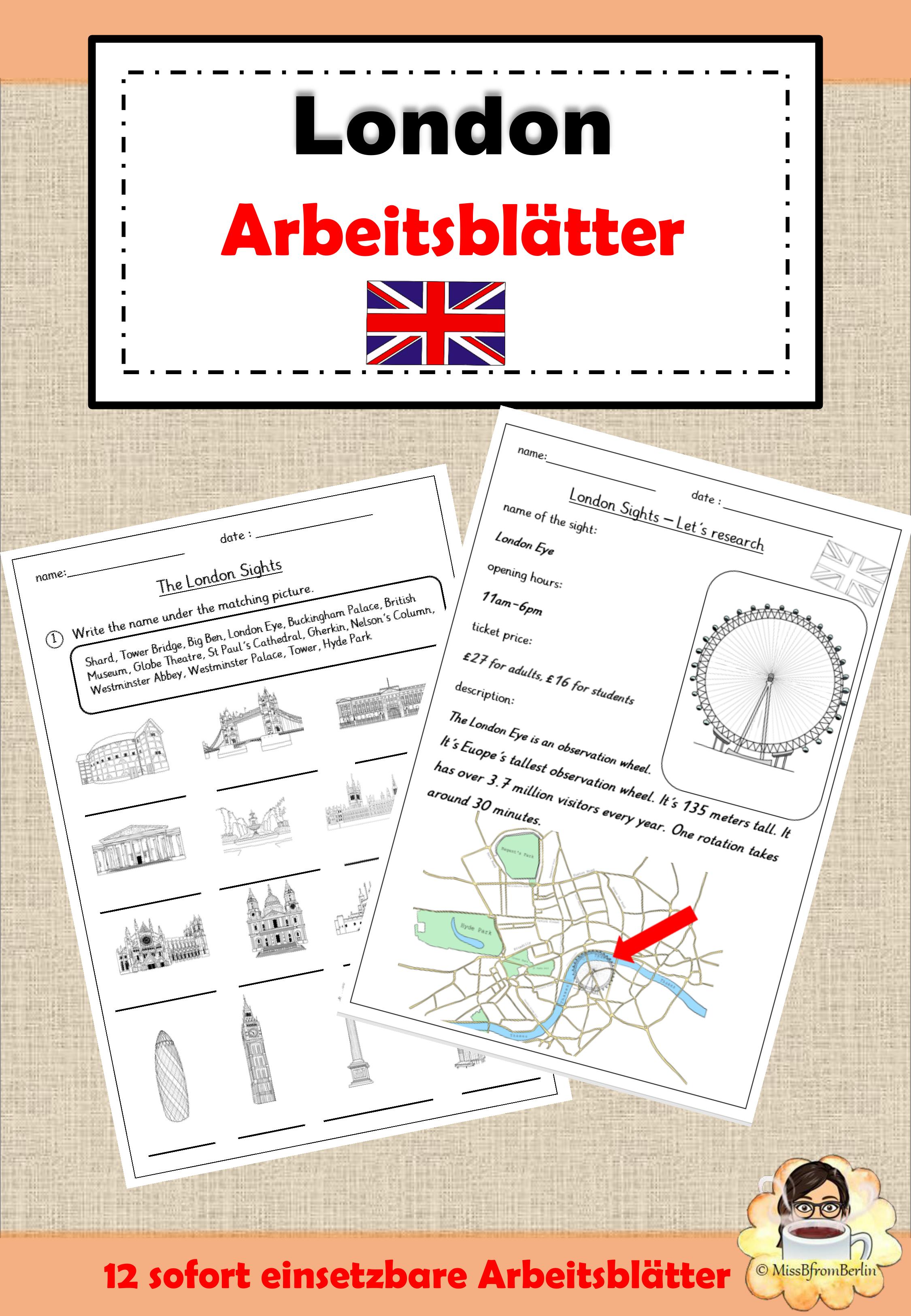 Englisch Grundschule London Arbeitsblatter