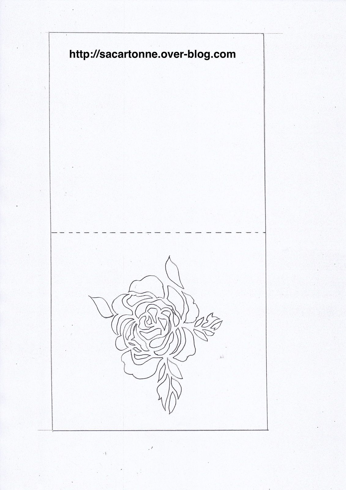 Схемы киригами открытки цветов