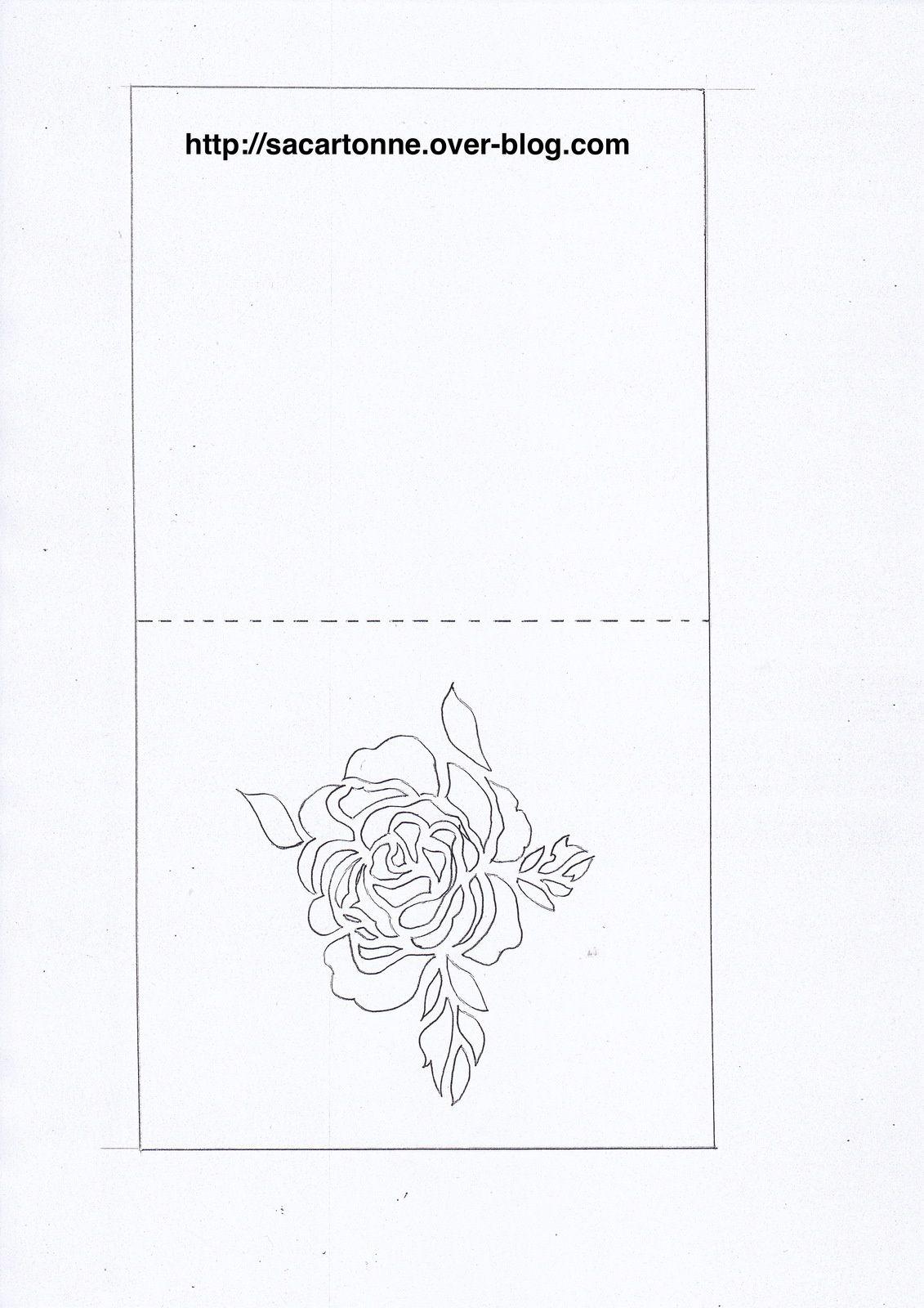 Gabarit gratuit Kirigami fleur | printables - template | Pinterest ...