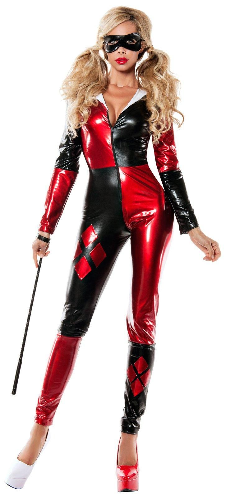 12df94ca059 Womens Red   Black Harlequin Bodysuit Costume from Buycostumes.com ...
