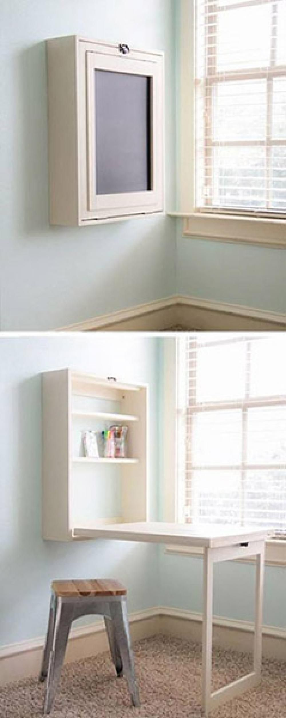What a clever hidden work space idea! (With images) Diy