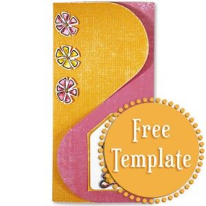Interlocking Three Panel Card Template Card Embellishments Templates Printable Free Cards