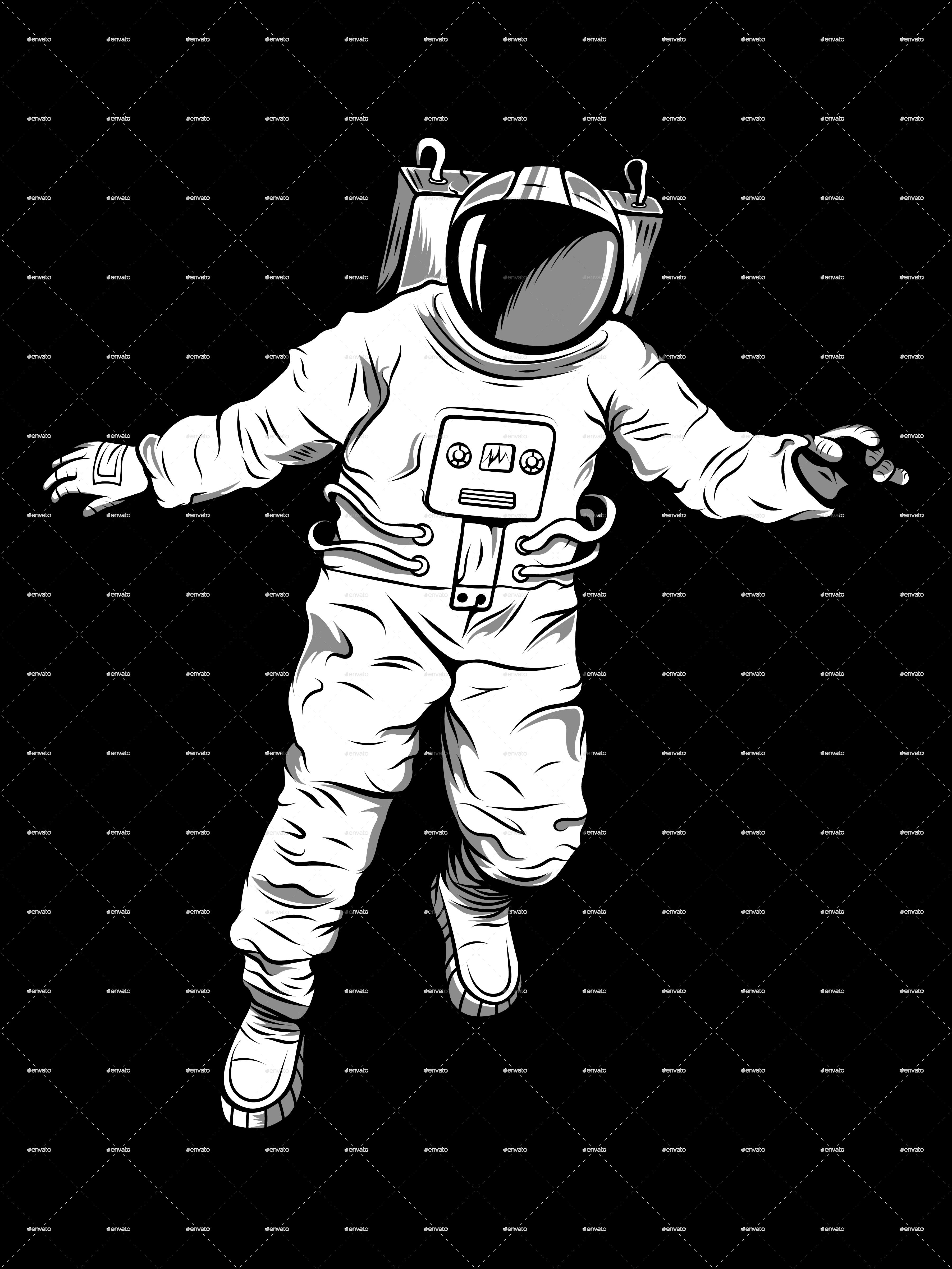 Floating Astronaut Illustration #Floating, #Astronaut, # ...