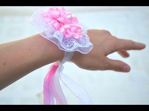 Браслет из лент подружкам невесты своими руками мастер класс