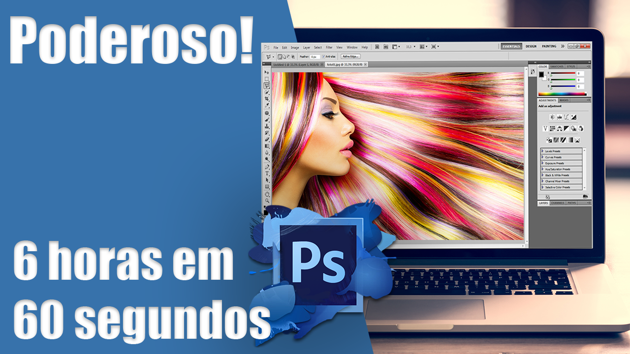 A magia do PhotoShop! Incrivel! https://www.youtube.com/watch?v=W93XQzxW9W4