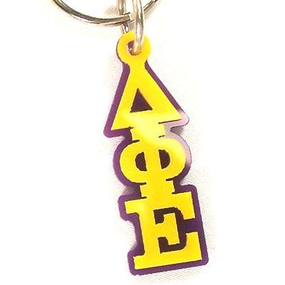 Delta Phi Epsilon Sorority Letter Keychain #greek #sorority #accessories # dphie #deltaphiepsilon #letters #Keychain