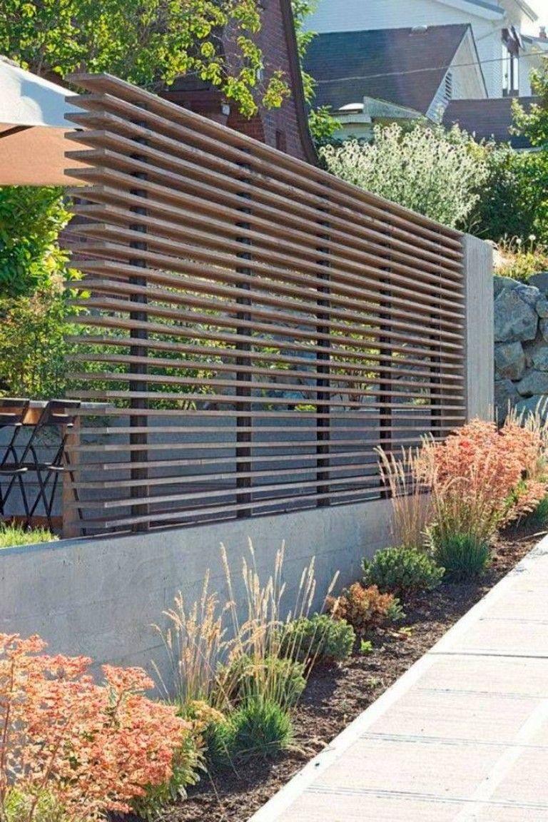 102 Marvelous Modern Front Yard Privacy Fences Ideas Yardart