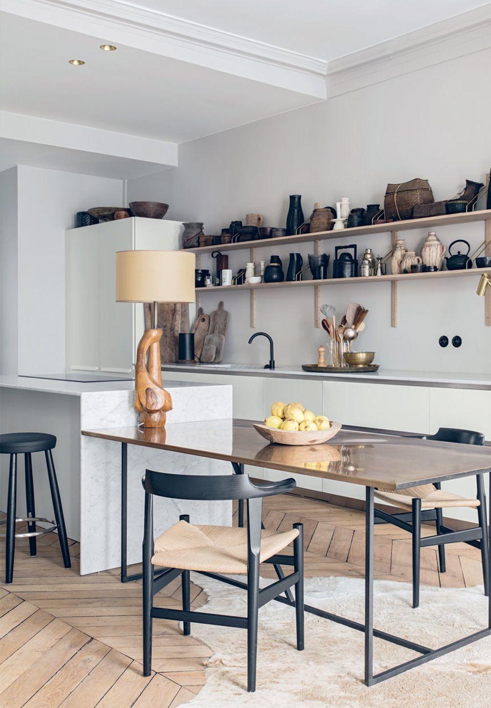 Eklektisk indrettet lejlighed i Lyon   Küchen Einrichtung ...