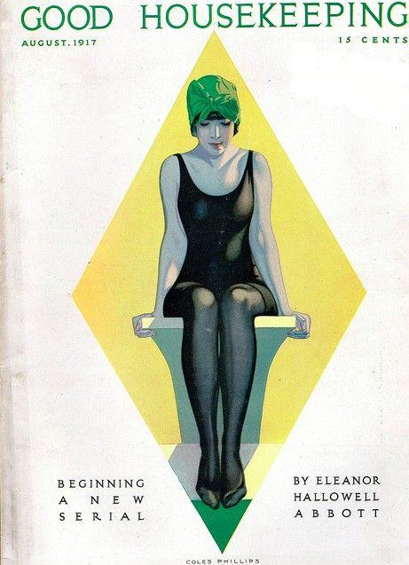 swim/suit lady/sit - Good Housekeeping Aug 1916