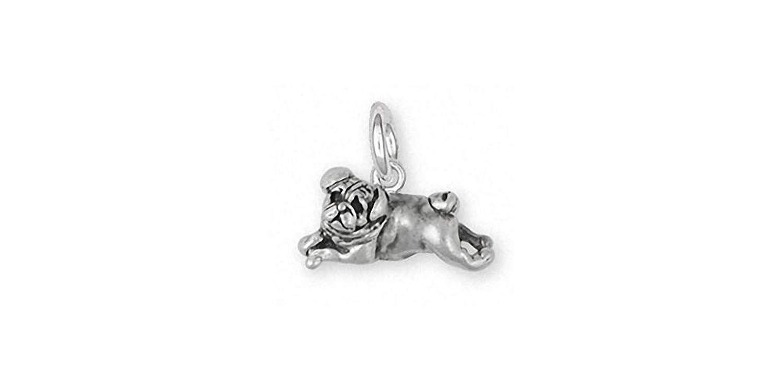 Pug Jewelry Sterling Silver Pug Charm Handmade Dog Jewelry Pg30 C