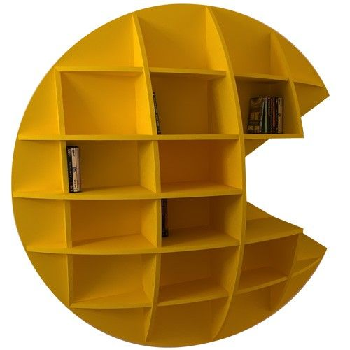 Pacman Bookshelf By Italian Designer Mirko Ginepro. Good Ideas