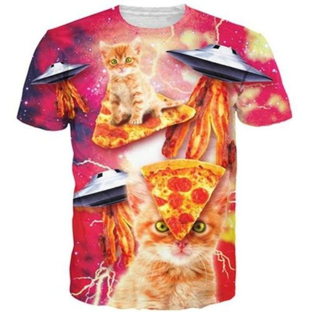 On Cue Apparel Tacos and Cats Pink Shorts