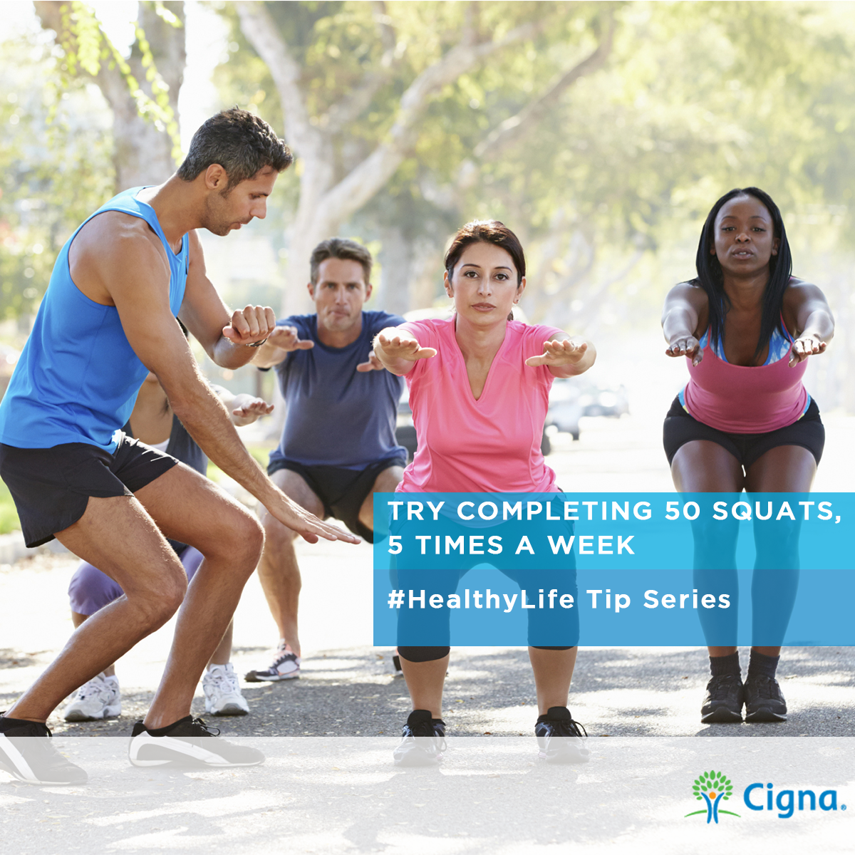 #HealthyLife Tip - Have you tried #squats? Try adding 25 squats, 5X a week to your #exercise routine.