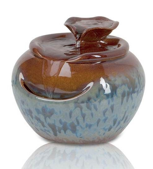 Attractive Lily Ceramic Tabletop Fountain