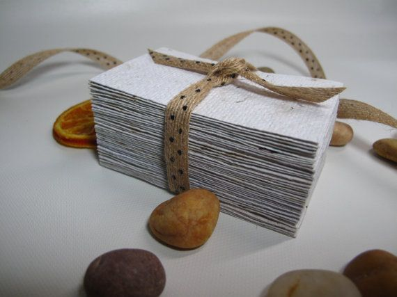 40 pcs distressed paper look vintage business card blank business 40 pcs distressed paper look vintage business card blank business card made from handmade recycled paper reheart Choice Image