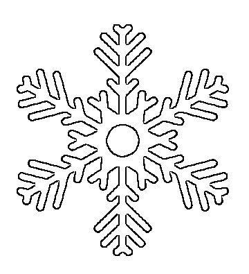 Free Printable Snowflake Templates \u2013 Large  Small Stencil Patterns