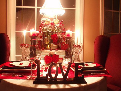 Romantic Valentine Dinner For Two Feliz Dia De San Valentin