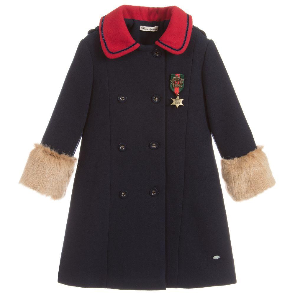 93e50e639 Girls Navy Blue Coat