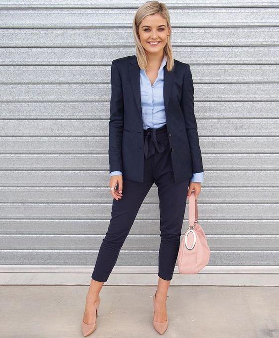 15 Schicke Arbeitskleidung mit kurzen Hosen - Outfit Ideen