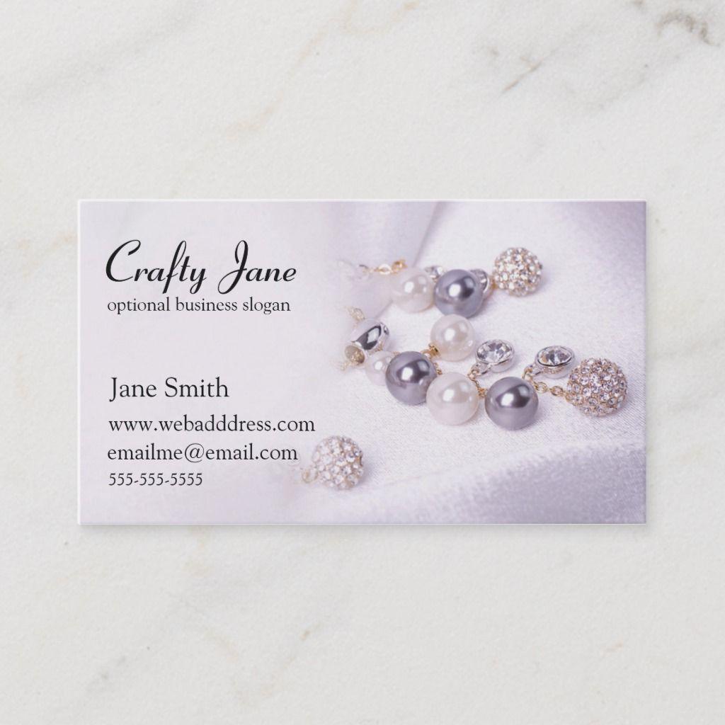 Elegant Jewelry Business Card Design Template Zazzle Com In 2021 Jewelry Business Card Handmade Jewelry Business Jewelry Business