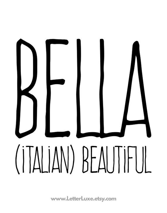 Bella Name Meaning Art - Printable Baby Shower Gift ...
