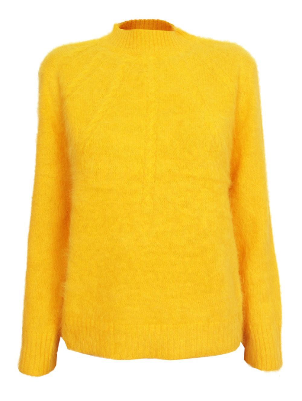 Karen Walker Sunray Cableknit Sweater - I love the cheery yellow ...