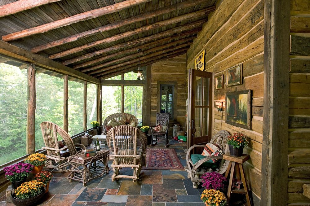 Rustic Outdoor Living Space   Outdoor Patios, Porches and Living ...