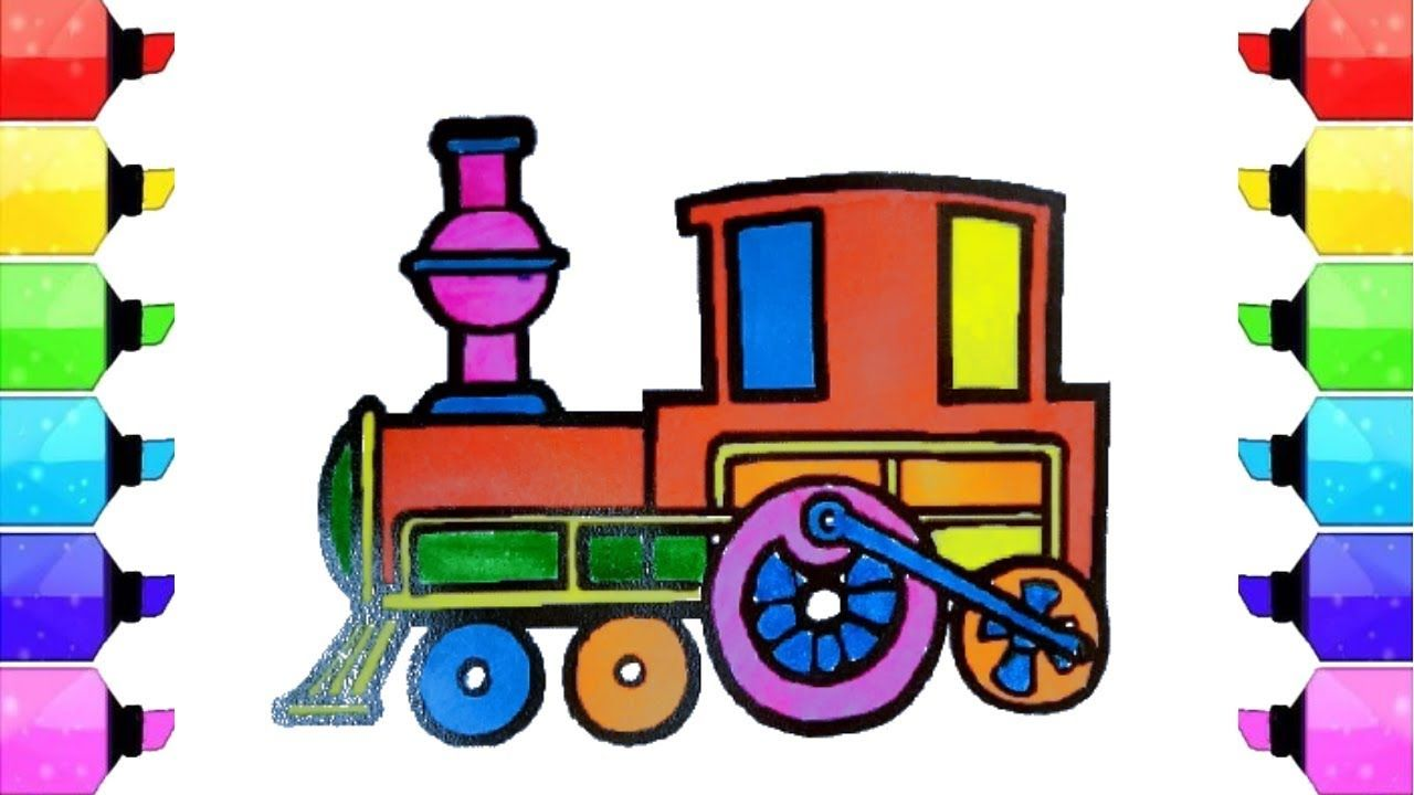 Colors For Children To Learn With Bullet Trains How To Draw Color Trai Coloring For Kids Drawings Mario Characters