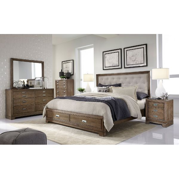 Caramel Brown Rustic Contemporary 6 Piece Calking Bedroom Set New Cal King Bedroom Sets Design Ideas