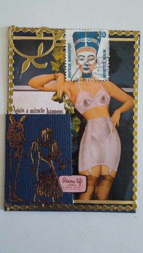 "Postage People ATC- ""Form Fit Egyptian Goddess"" by Marita Kovalik"