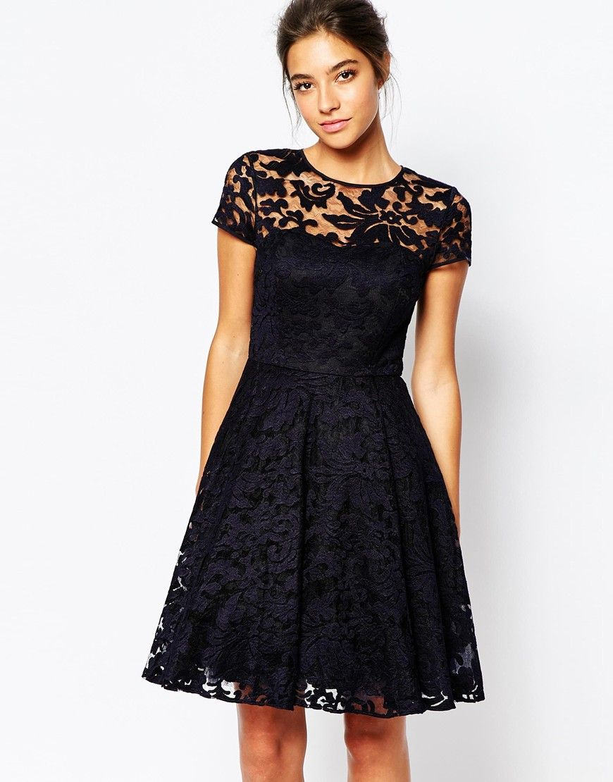 Ted Baker Caree Sheer Lace Overlay Dress | Fancy huh? | Pinterest