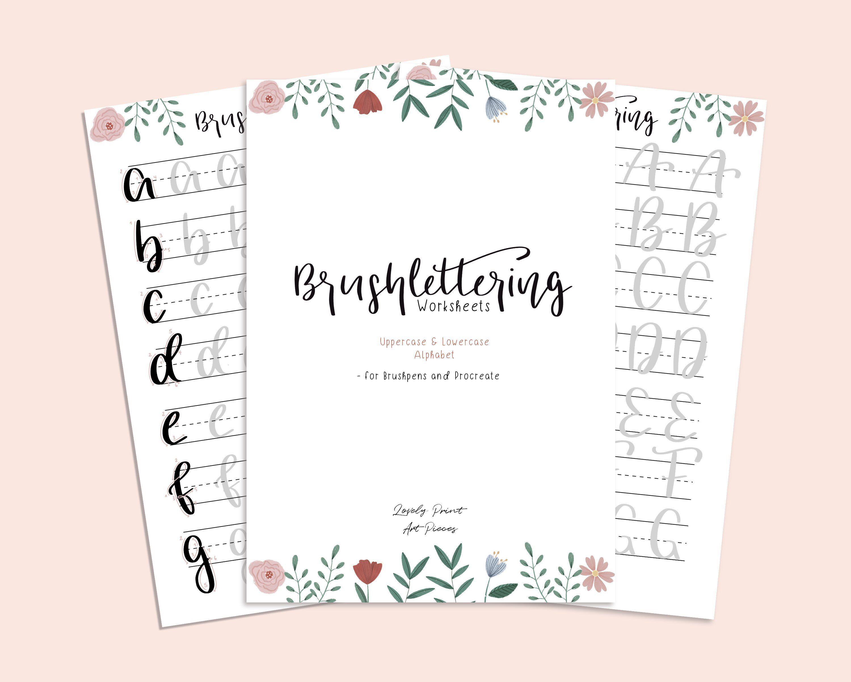 Brushlettering Ubungsblatter Handlettering Worsheets