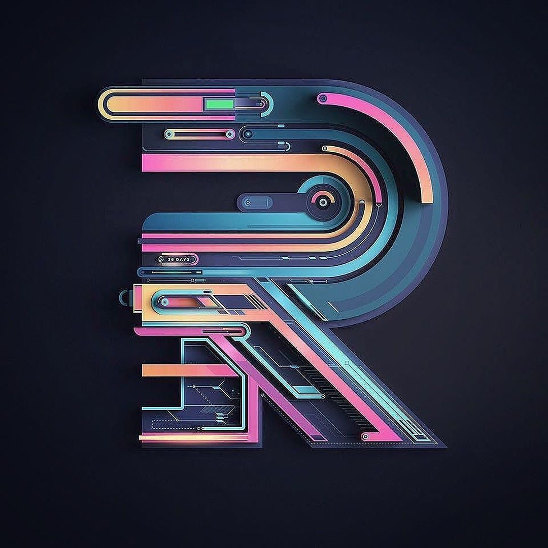 The Most Futuristic R ever? Created by rikoostenbroek