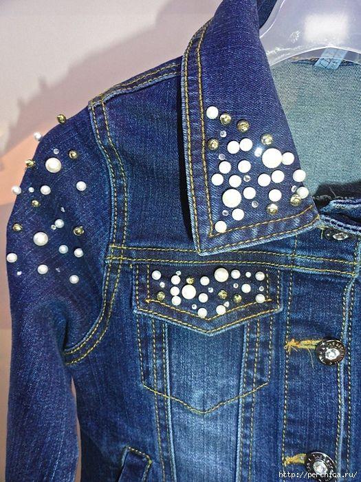 ездил городу как украсить джинсовую куртку своими руками фото него довольно