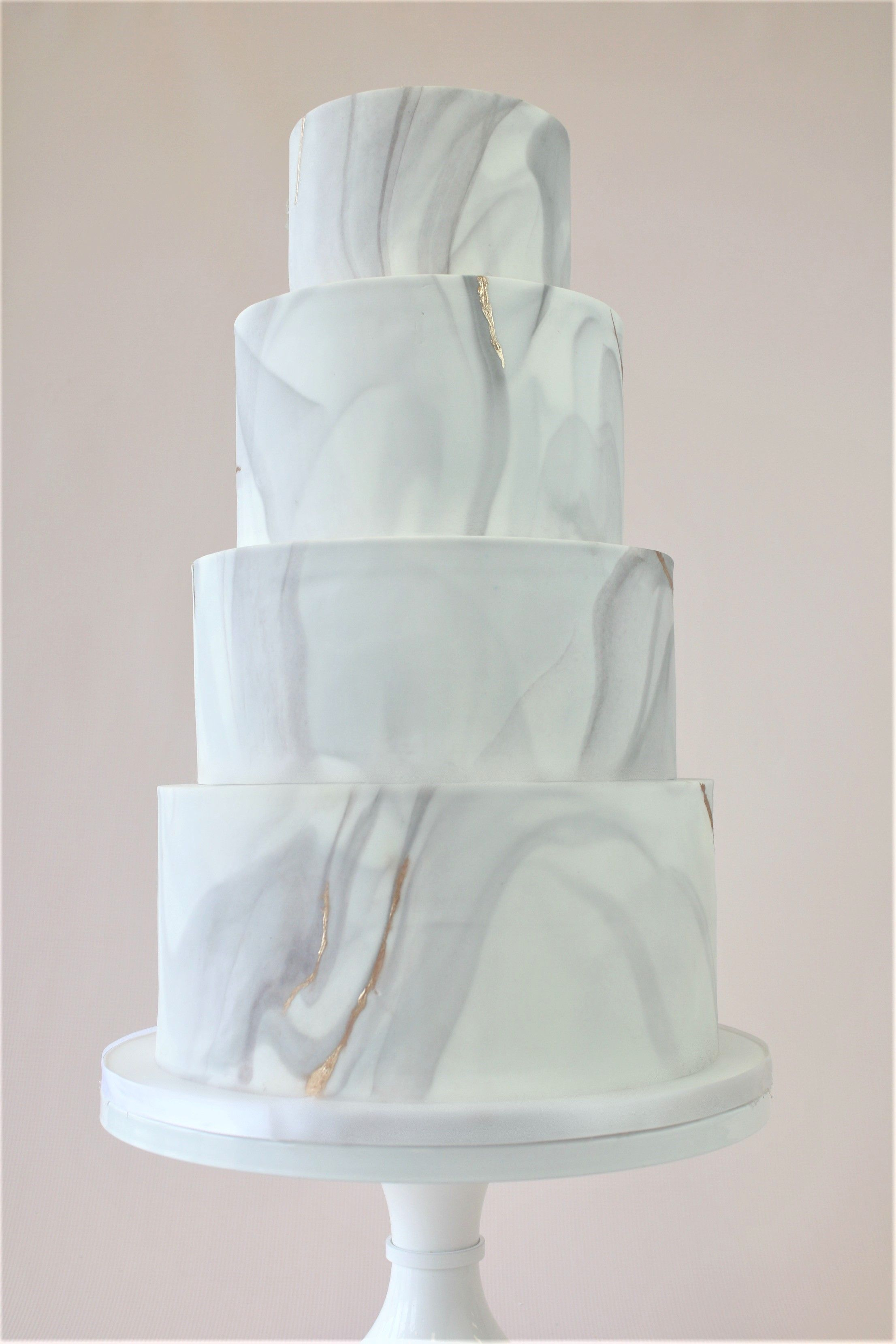 modern marble - this gray carrara marble inspired fondant cake is
