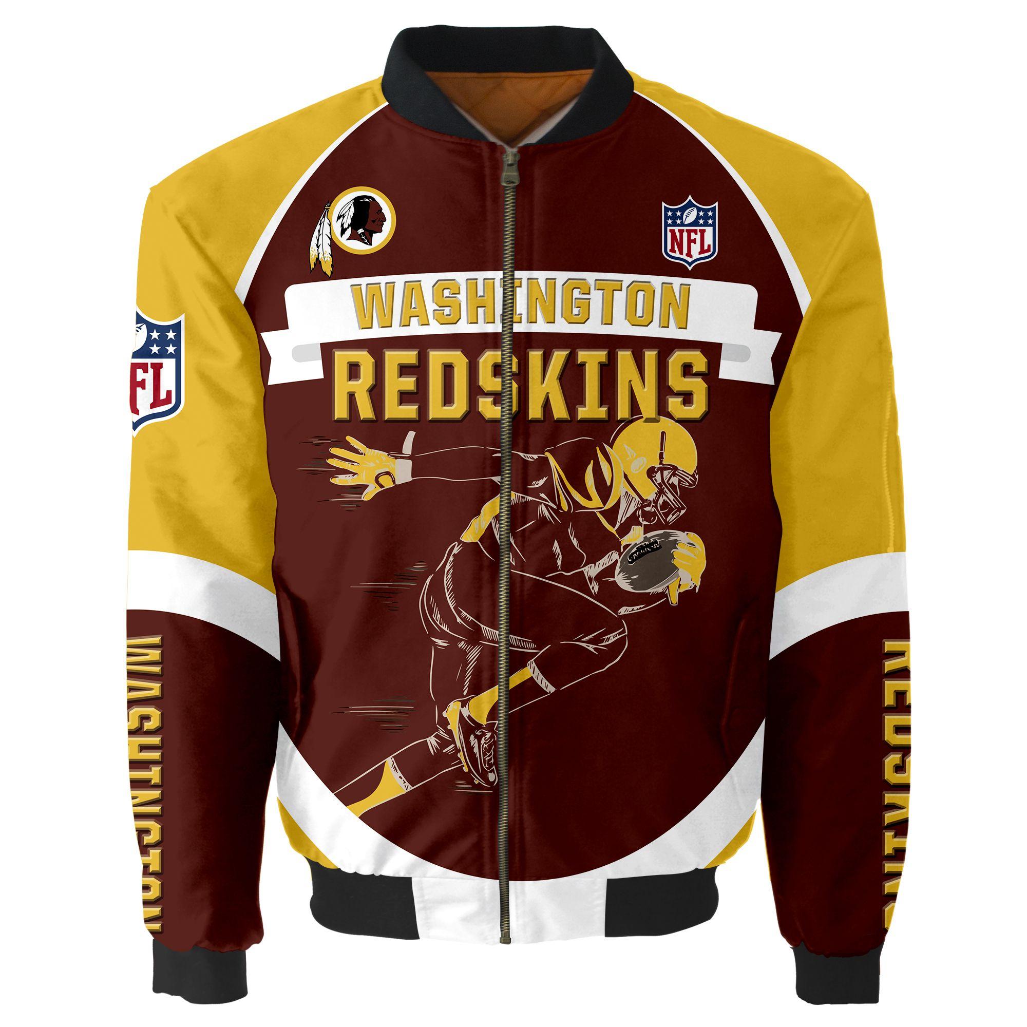 Washington Redskins Bomber Jacket Men Women CottonPadded