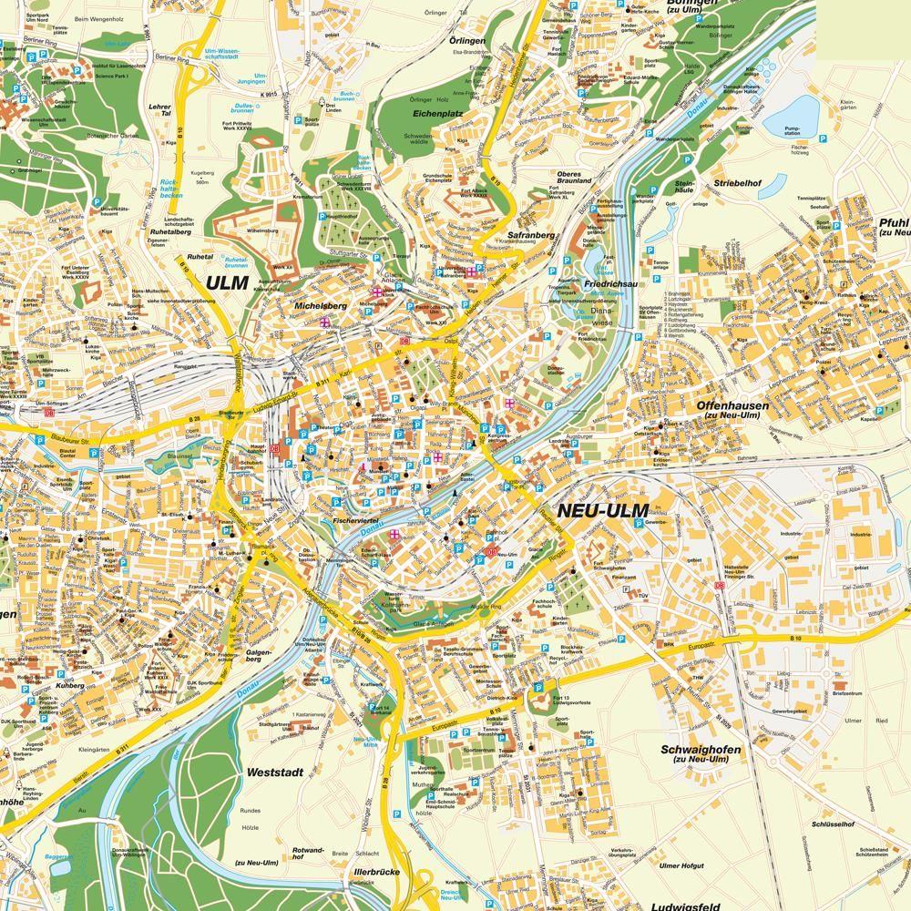 Ulm Karte Karte Karten Karte Deutschland Ulm