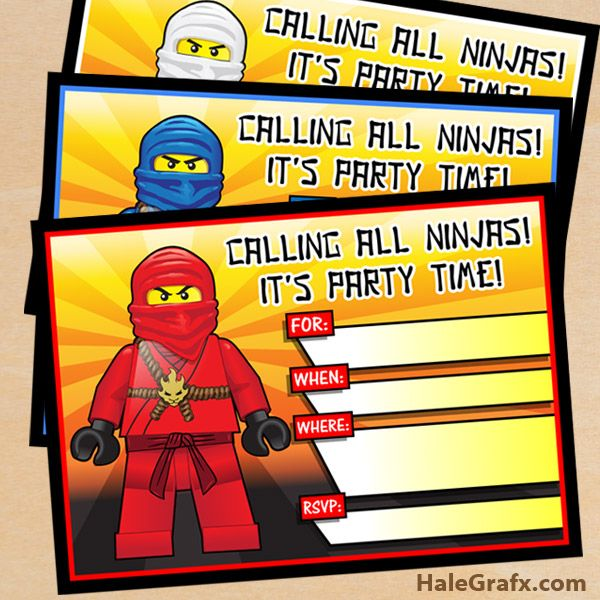 ninjago party invites 2 FREE Printable LEGO Ninjago Birthday – Lego Party Invitations Printable