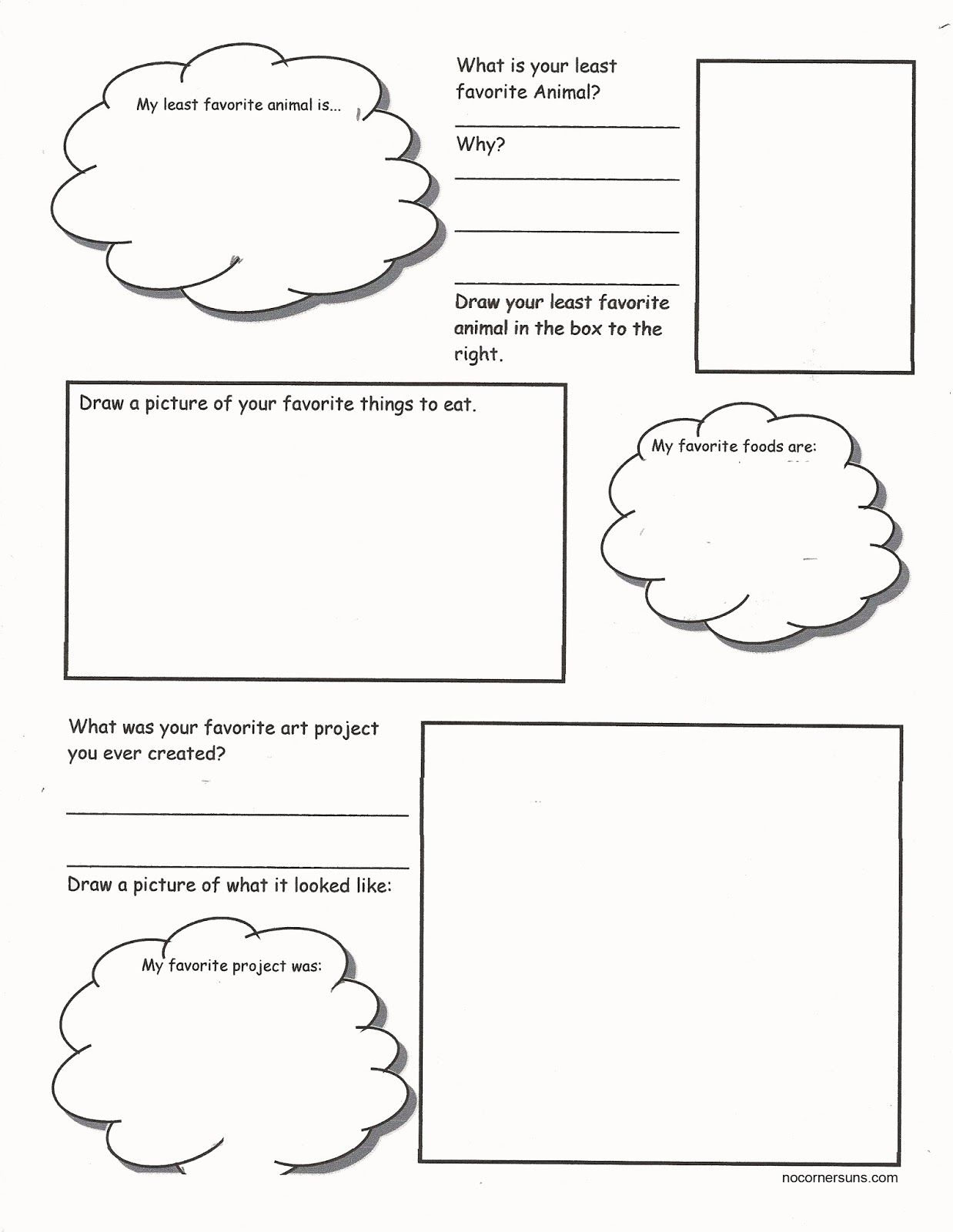 worksheet Get To Know You Worksheet no corner suns art me get to know your students while they get