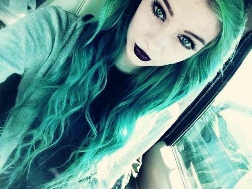 Thelonely-Freak | via Tumblr #girl hair blue hair - green ...