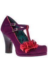 SALE UK 3 & 4 Ruby Shoo Uma Shoes Plum