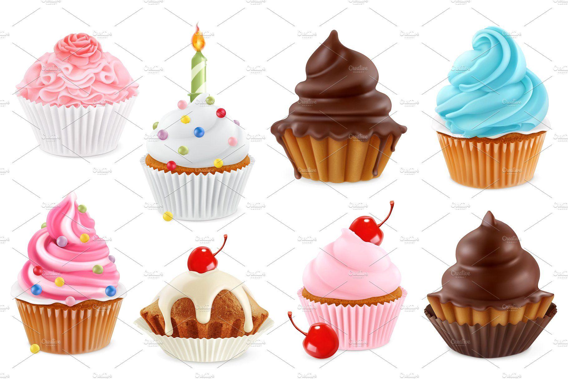 Cupcakes, vector set for Cupcake vector