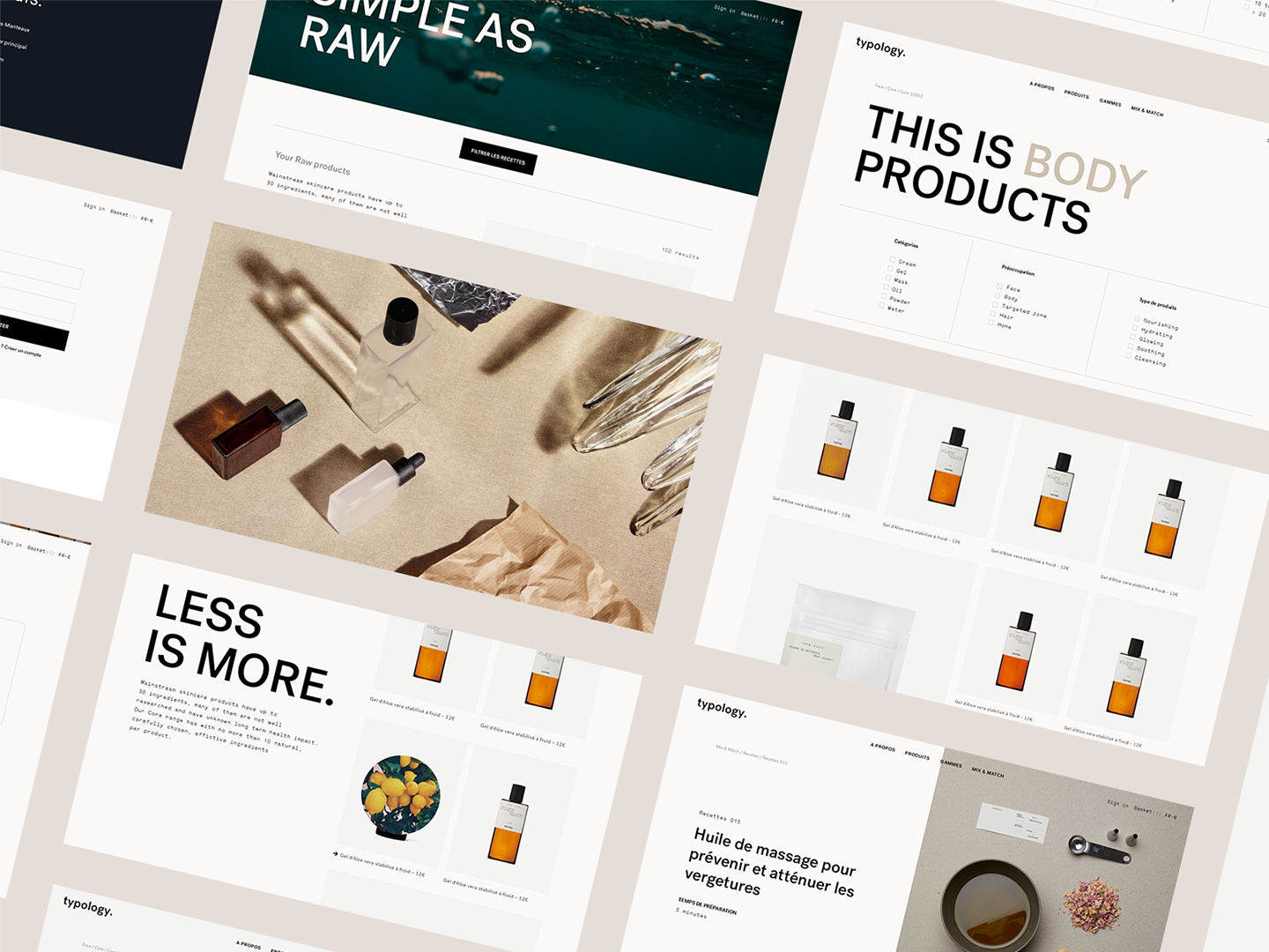 Typology E Commerce Typography Layout Design Interface Website Ecommerce Typography Layout Typology