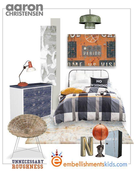 vintage orange basketball scoreboard sports art canvas by aaron rh pinterest com
