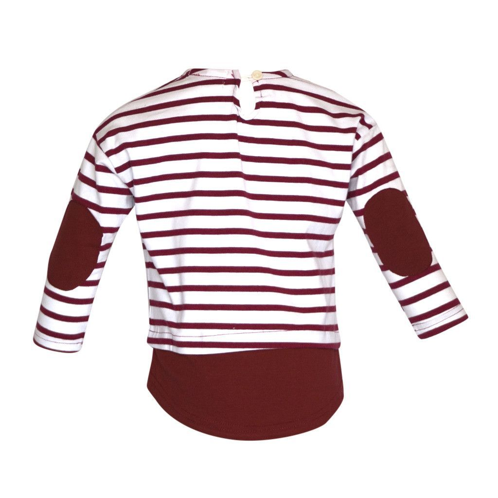Striped Top w/ Elbow Patches